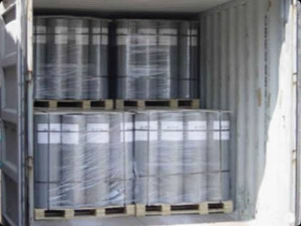 Plaster mesh in pallet were loaded on trucks