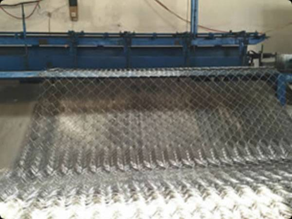 Chain link machine in our workshop